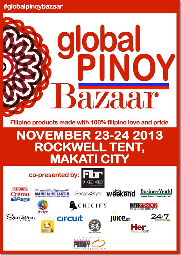 Giveaway: Global Pinoy Bazaar 2013 passes