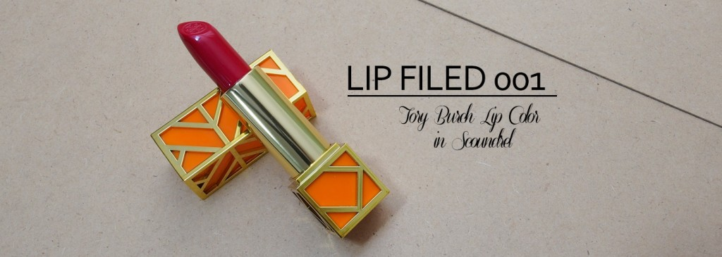 LIP FILED 001: Tory Burch Lip Color in Scoundrel