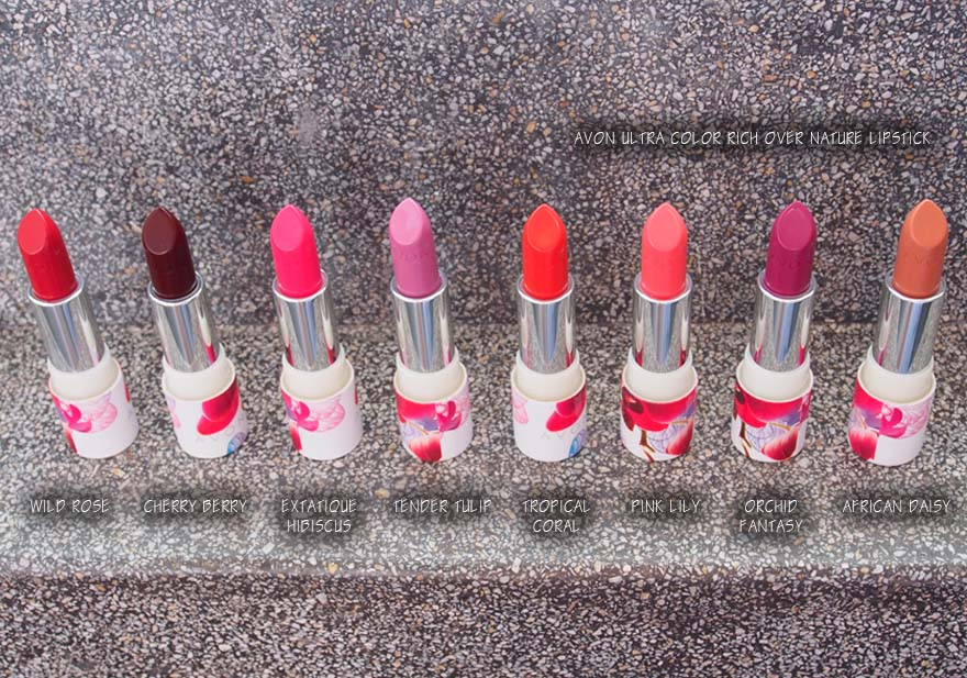 Lipstick Guide: 8 Shades of Avon Ultra Color Rich Over Nature Lipsticks*