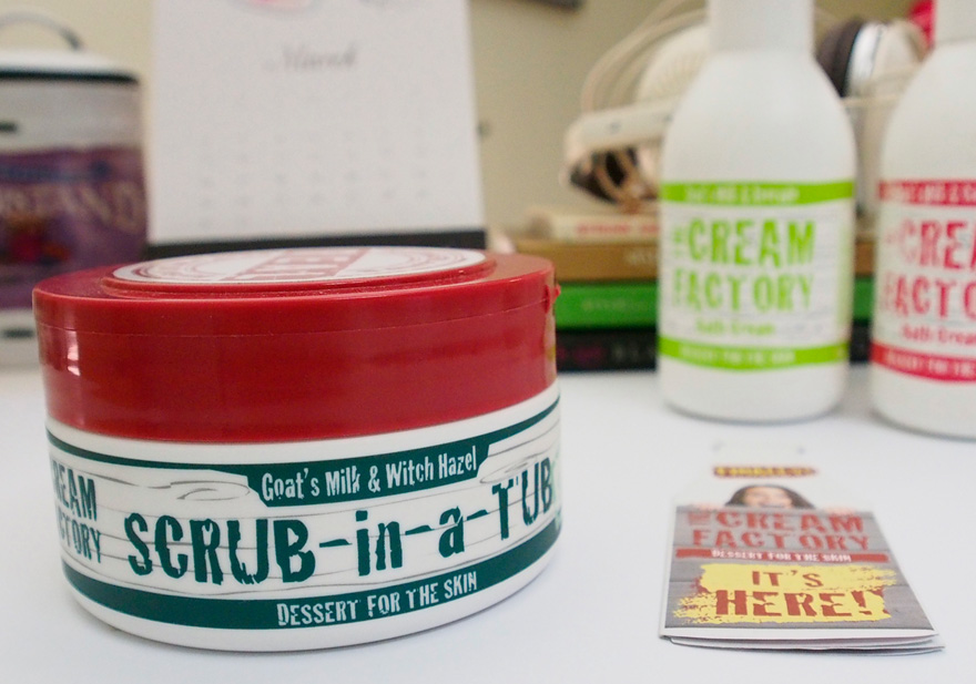 The Cream Factory Scrub-in-a-Tub in Salty [Goat's Milk & Witch Hazel]*