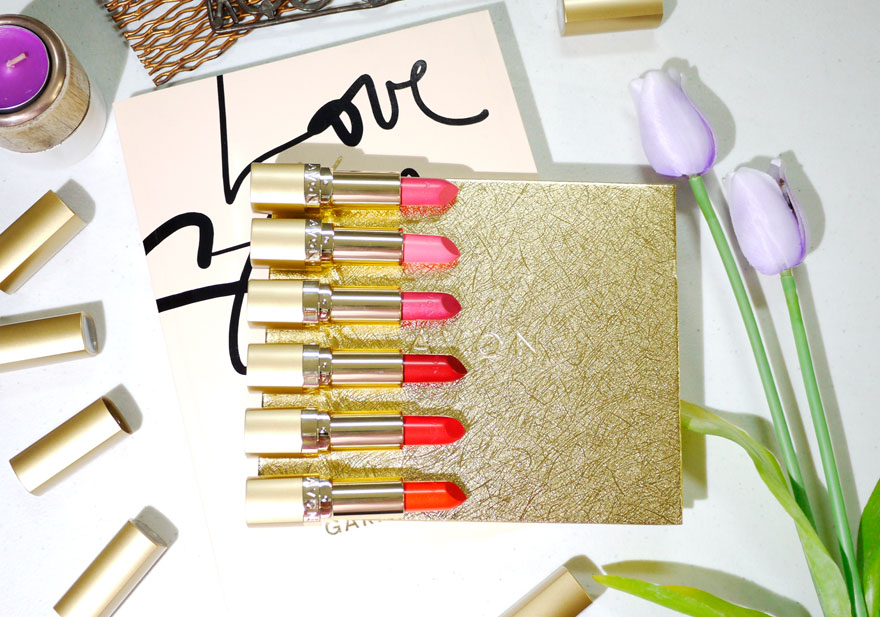 Avon 24K Gold Collection plus 24K Gold Lipstick Guide