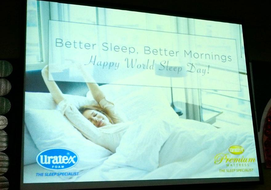 Uratex World Sleep Day