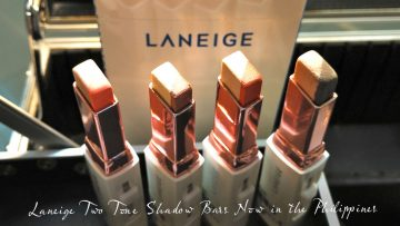 Laneige Two Tone Shadow Bars now in the Philippines