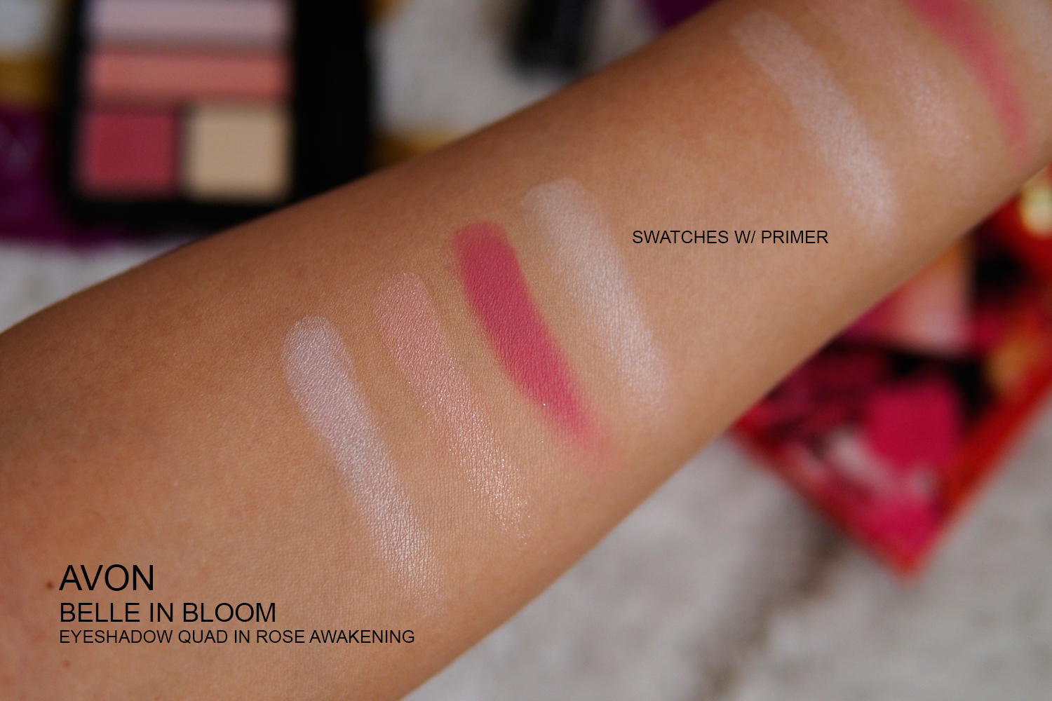AVON BELLE IN BLOOM COLLECTION SWATCHES
