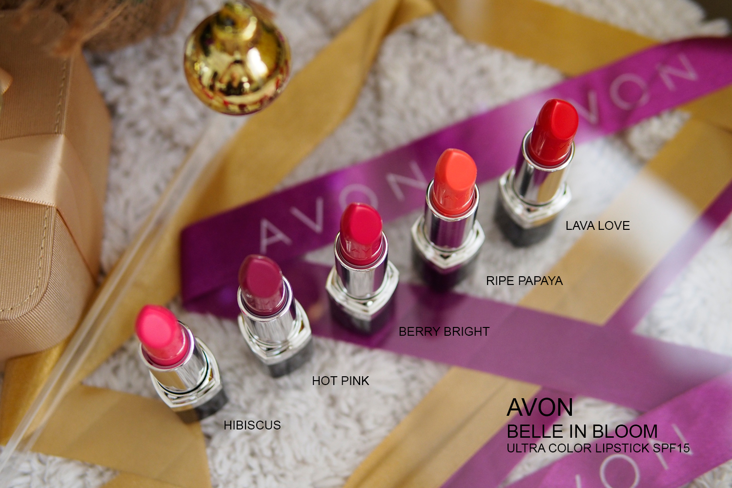AVON BELLE IN BLOOM LIPSTICKS