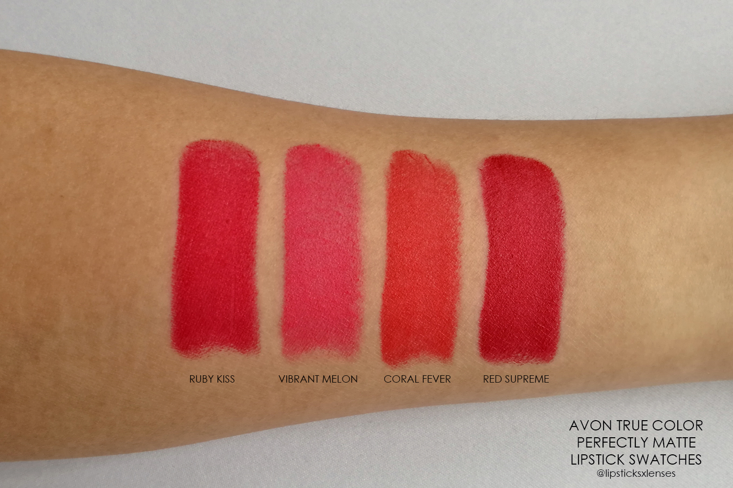 Avon Perfectly Matte Lipstick Swatches With The 8 New Nudes