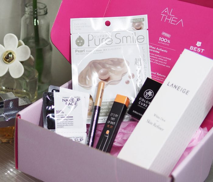 Unboxing the Althea Lovely Dewy Box Plus Swatches and Mini-Review