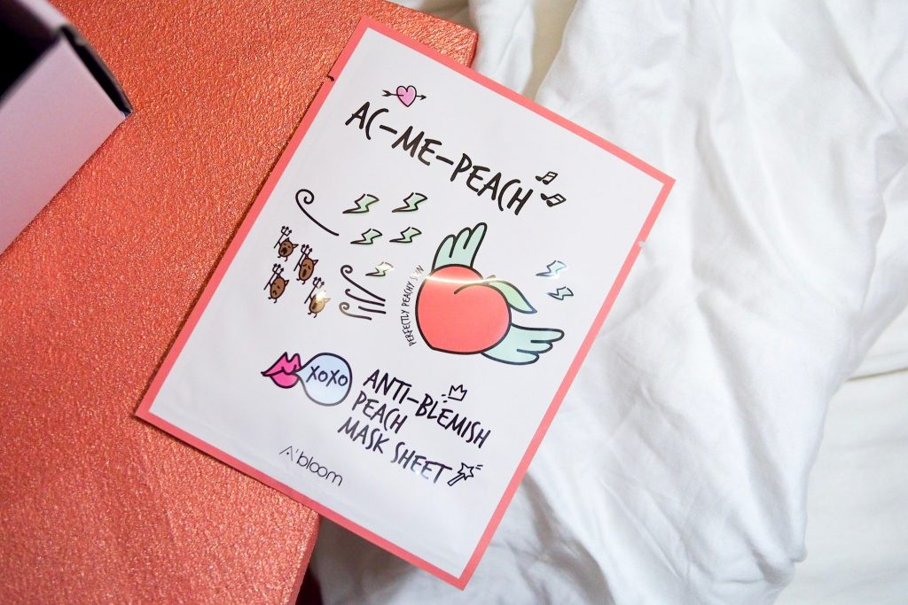 Althea A'Bloom Ac-Me-Peach Anti-Blemish Sheet Mask