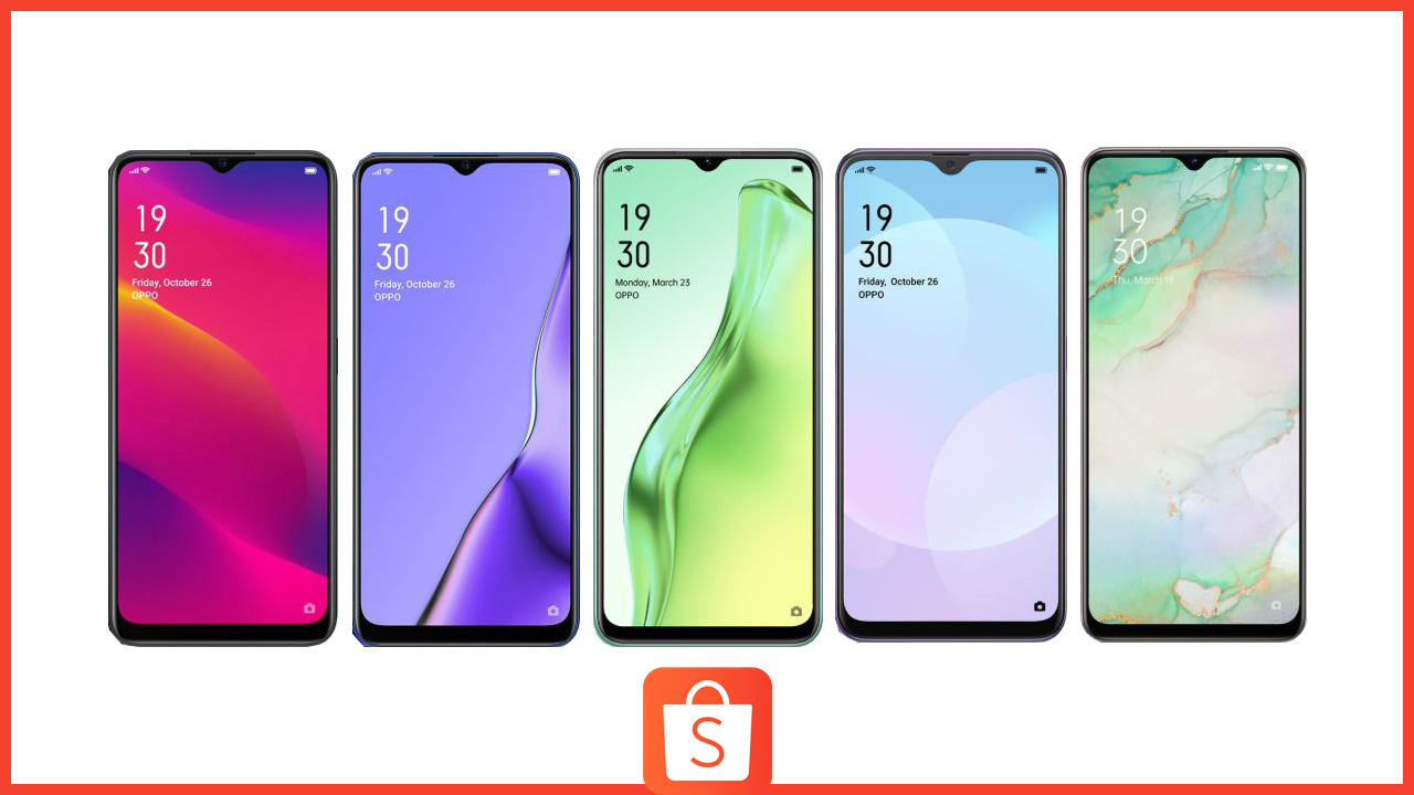 Get Sub 10k Smartphones from OPPO at Shopee