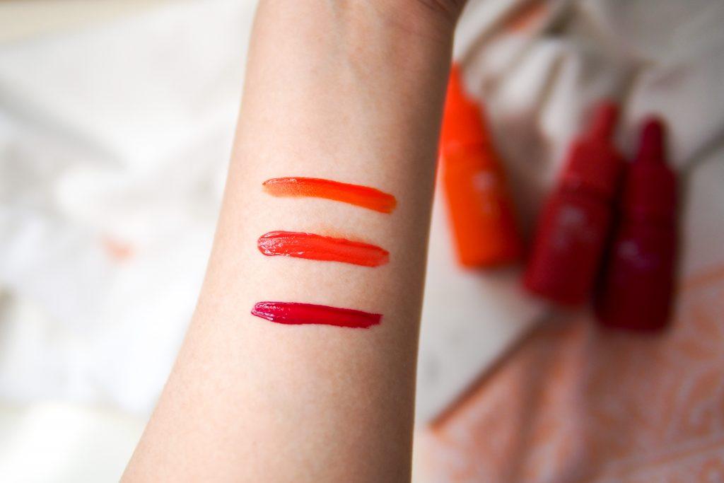 Peripera Ink Velvet New Shades Swatches