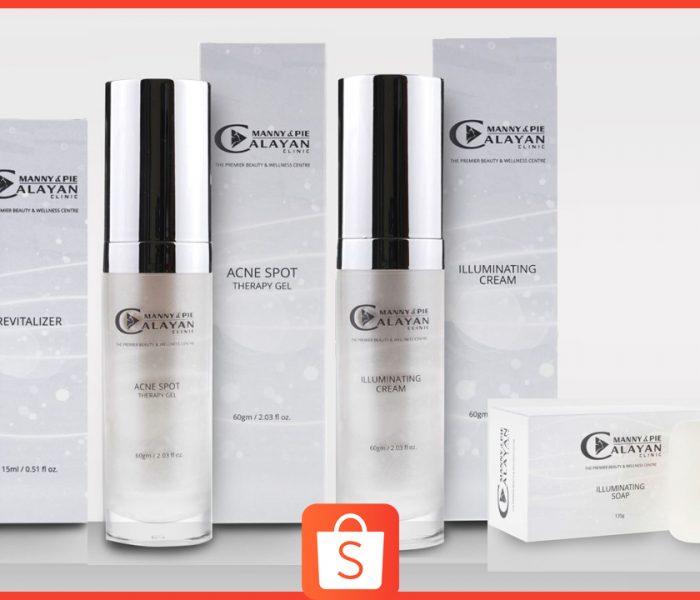 Manny and Pie Calayan Clinic Skincare is now available on Shopee!